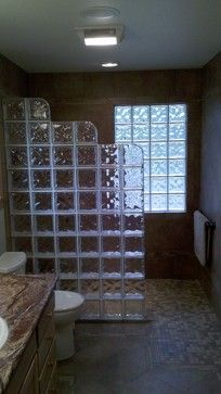 Glass Block Shower Wall Design Ideas, Pictures, Remodel, and Decor