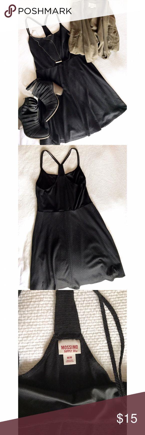 Mossimo Black Spaghetti Strap Dress Mossimo Black Spaghetti Strap Dress. Worn once, EUC. Mossimo Supply Co Dresses Mini