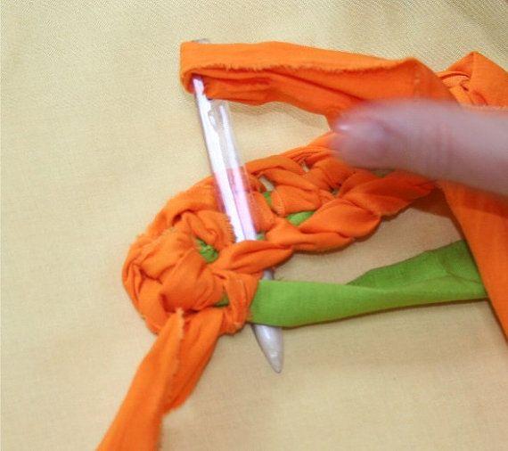 toothbrush rag rug making instructions