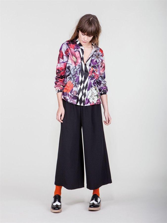 Naughty Dog FW1617 Autumn fantasy silk shirt and midi pants