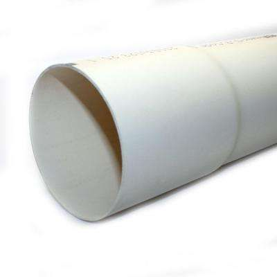 4 in. x 10 ft. PVC Sewer and Drain Pipe
