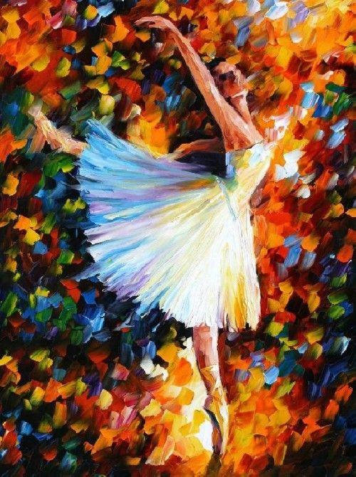 Swan Lake by  Leonid Afremov - Ballet, балет, Ballett, Bailarina, Ballerina, Балерина, Ballarina, Dancer, Dance, Danse, Danza, Танцуйте, Dancing
