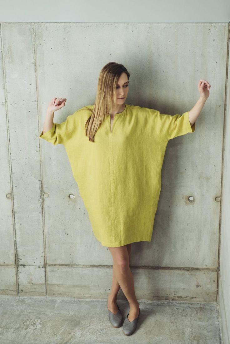 Lininė suknelė No. 14S8 | MOTUMO
