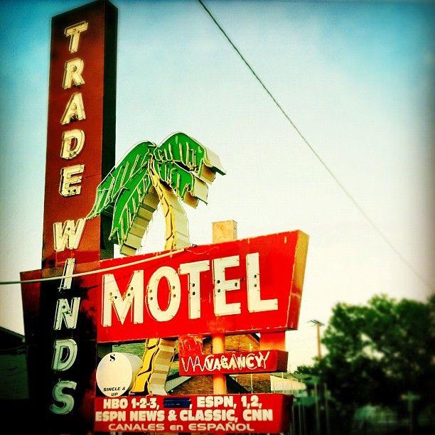 Tradewinds Motel's vintage neon sign, in Grand Prairie, Texas | Flickr - Photo Sharing!