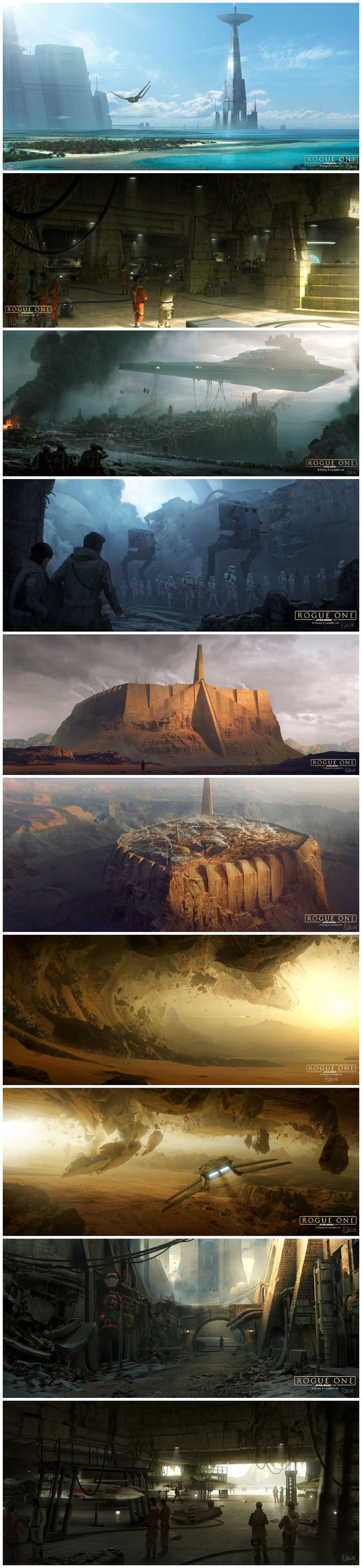 Star Wars: Rogue One Concept Art - Created by Andrée Wallin