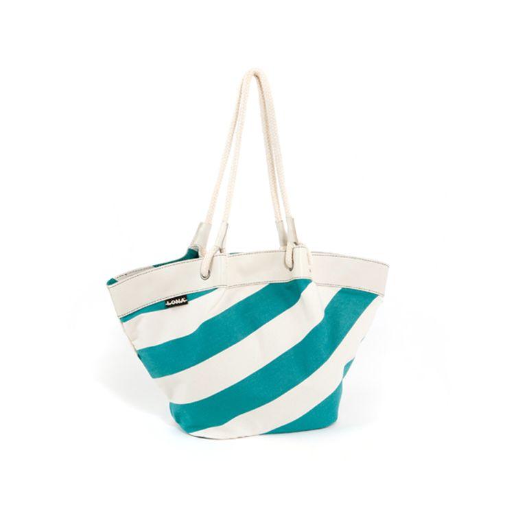 Bag Gina - Green-Raw / Blue-White