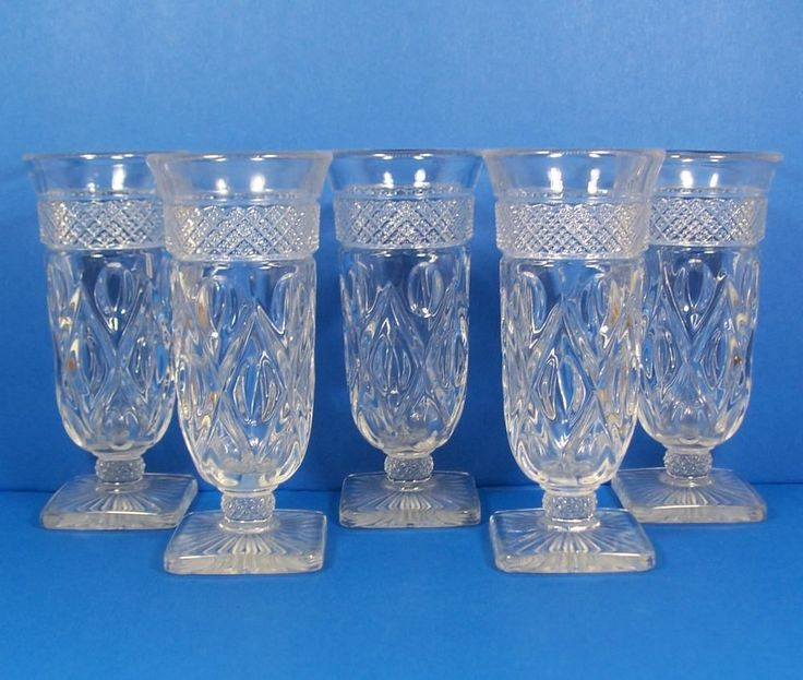 Imperial Glass Cape Cod Parfait Glasses Set Of 5 Stemmed 5