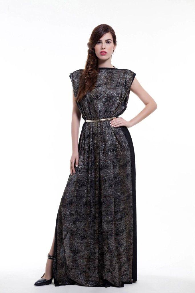 SARTORIAL | Chryssomally || Art & Fashion Designer - Grecian gold and silver pleated maxi dress