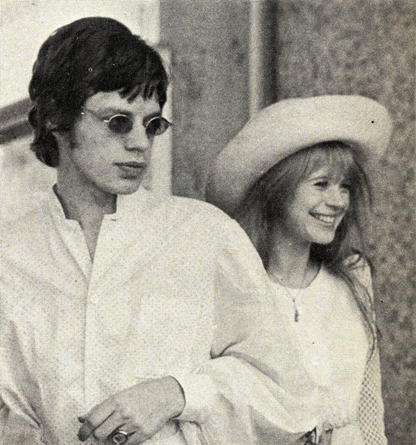 marianne faithfull with mick jagger