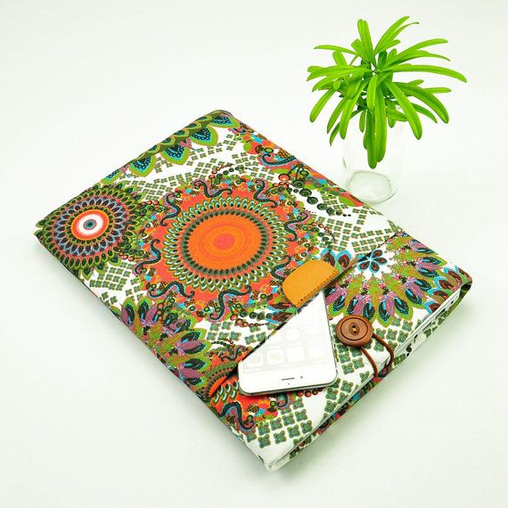 Thank you for viewing our shop !  A retro print canvas fabric, padded with light foam,wooden button closure. Two pockets design ,it is Simple but gorgeous.  Size: iPad Pro (12 x 8.68 x .27) 2015 iPad Mini (7.87 x 5.3 x .29) 2012-2015 iPad Air 2 (9.4 x 6.6 x .24) 2014-2015 iPad Air (9.4 x 6.6 x .29) 2013-2015 iPad 4 (9.50 x 7.31 x .37) 2012 iPad 3 (9.50 x 7.31 x .37) 2012 iPad 2 (9.50 x 7.31 x .34) 2011 iPad 1 (9.56 x 7.47 x .50) 2010  If you can not find a suitable size ,we can customize for…
