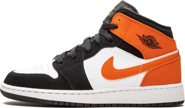 jordan air 1 mid femme orange