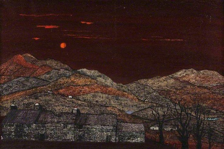 Welsh Village,  Fred Uhlman. English (1901 - 1985)