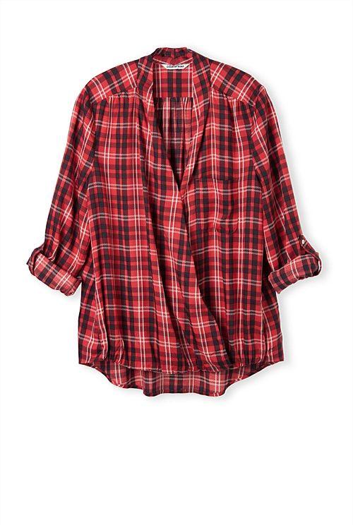 Check Wrap Shirt