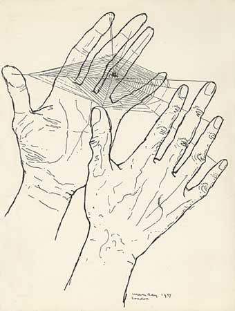 "Man Ray. L'attente ""Les Mains Libres"" 1937 (we weave our own webs which is probably true)"