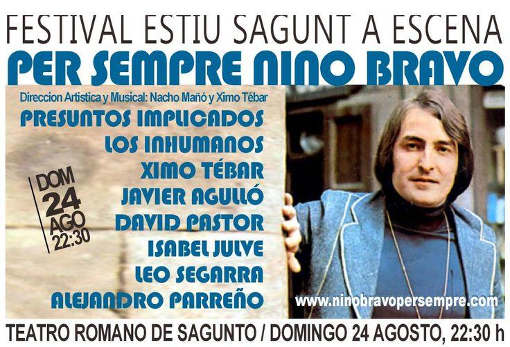 Entra en http://www.ninobravopersempre.com para Información del concierto, entradas y videoclip. Canciones interpretadas en vivo conjuntamente por el propio Nino Bravo en pantalla y artistas invitados. Un espectáculo innovador y de gran calidad artística dirigido por Nacho Mañó y Ximo Tebar.