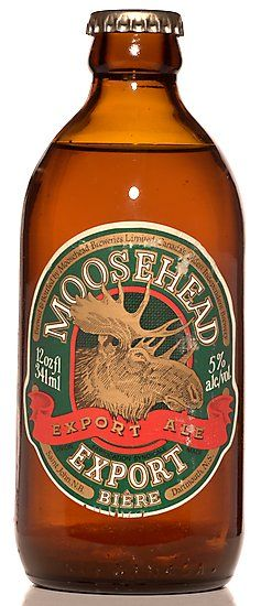 Old 'stubby' beer bottle from Moosehead Breweries, St John, New Brunswick. Truly a Canadian beer.
