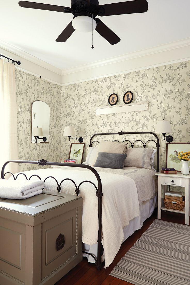 "The Cottage French Nightingale 33' x 20.5"" Botanical Wallpaper | Wayfair"