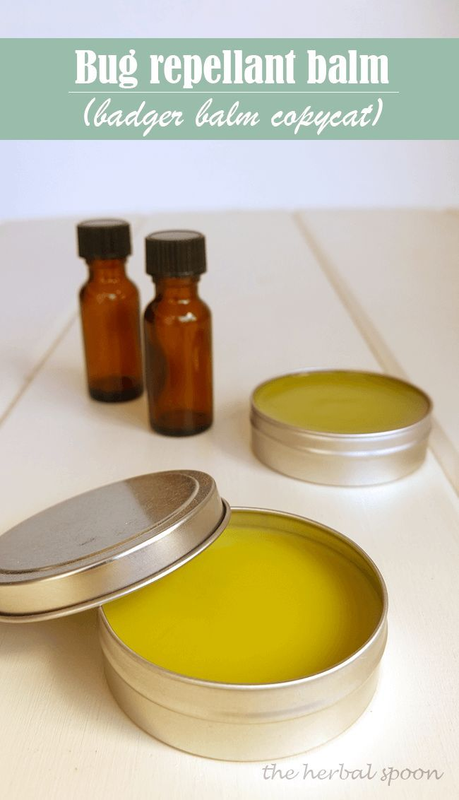 Natural bug repellant badger balm copycat - The Herbal Spoon