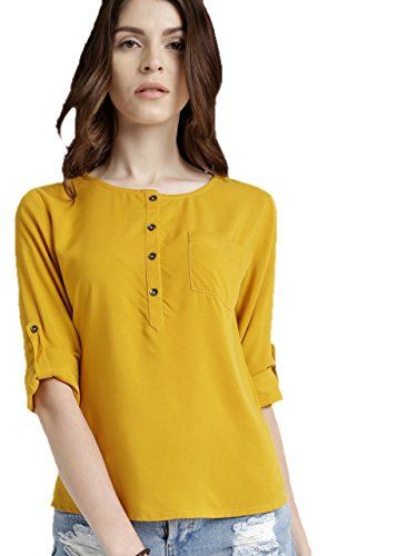 b738e5b6409371 Leriya Fashion Women s Western Wear Top (Yellow