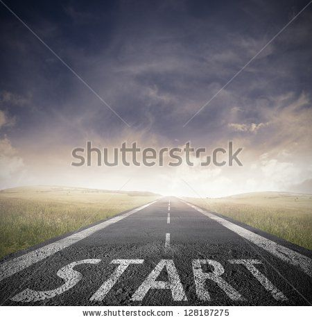 Concept of start straight for business - stock photo