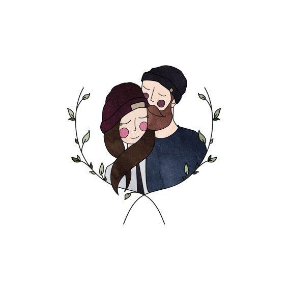 Custom Couple Illustration // Digital Illustration Custom