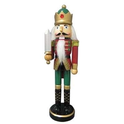 Holiday Living Wood Tabletop Nutcracker Figurine