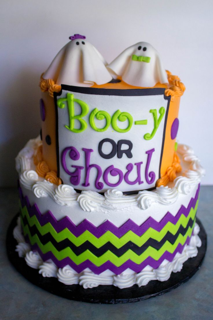 https://flic.kr/p/yGwz6M | Halloween Gender Reveal Cake