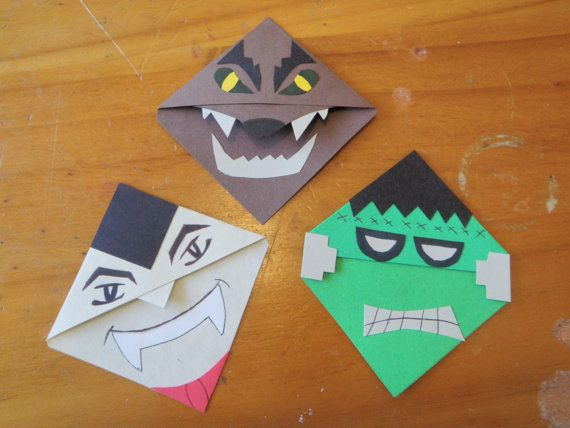 Really cute movie monster bookmarks on etsy!!