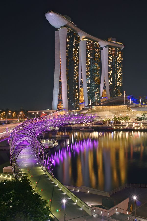 Marina Bay Sands, Singapore, Singapore | Together with the Helix bridge, this area is a stunner day or night.