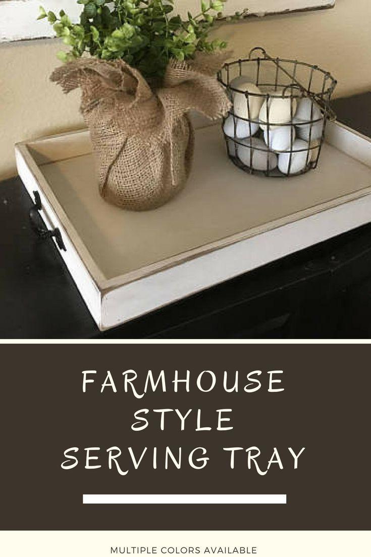 Serving Tray Farmhouse Tray Rustic Farmhouse Serving Tray