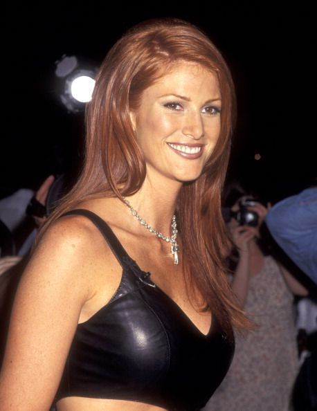 Actress Angie Everhart attends the 'Tales from the Crypt Presents Bordello of Blood' New York City Premiere on August 9 1996 at Worldwide Theater in...
