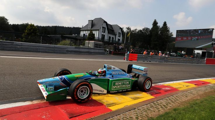 Mick Schumacher Benetton B194 at Spa Francorchamps - Sunday 27 August 2017