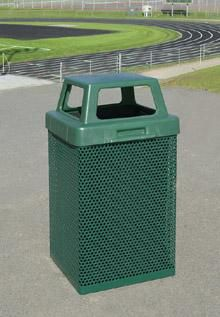 Outdoor Steel Trash Can