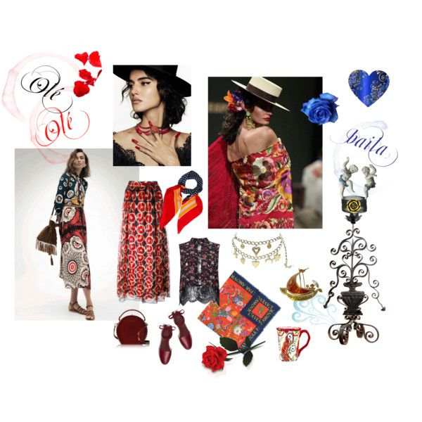 Dedicated to Spain by happiestime on Polyvore featuring moda, Miss Selfridge, Marc Jacobs, Tory Burch, Bertoni, Gucci, Yves Saint Laurent and Blanca