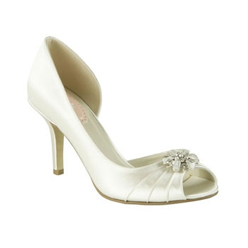 The Kiss Wedding Shoes By Pink Paradox Is A Pretty Mid Heel Side Cut Out