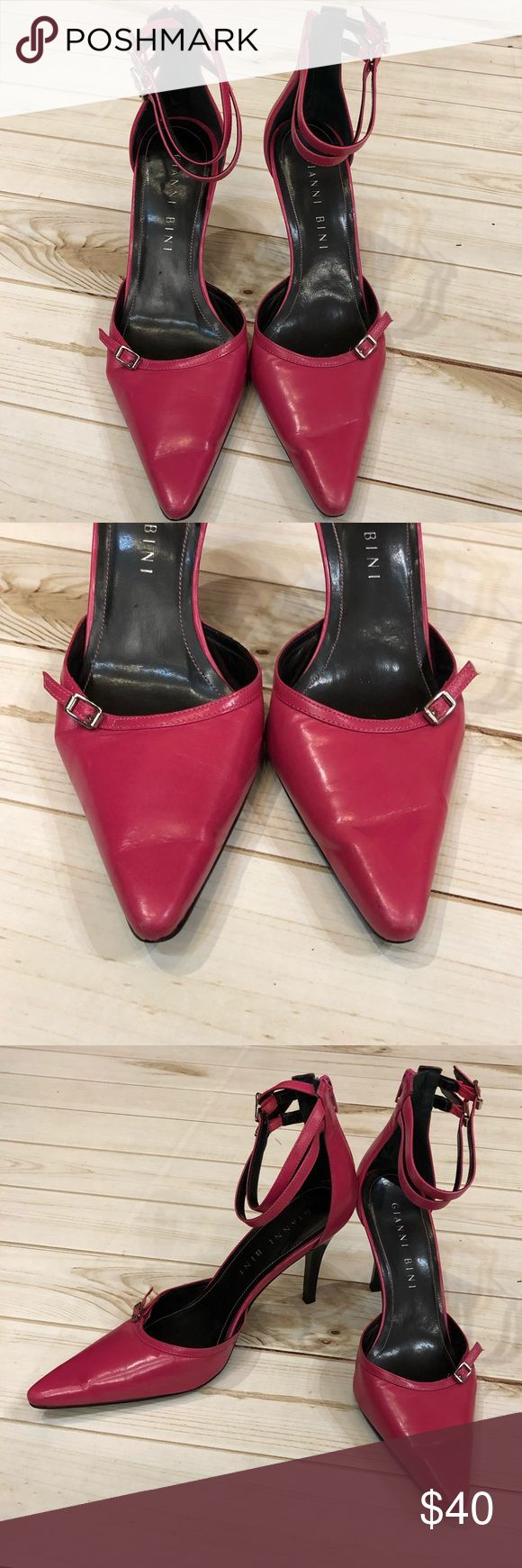 Gianni Bini 8 1/2 pink pointy toe Heels💕 Cute and trendy! Perfect for your next night out! Pair with pant suits, dresses, skirts, and your favorite pair of jeans!! In good condition!! 💕💕 Gianni Bini Shoes Heels