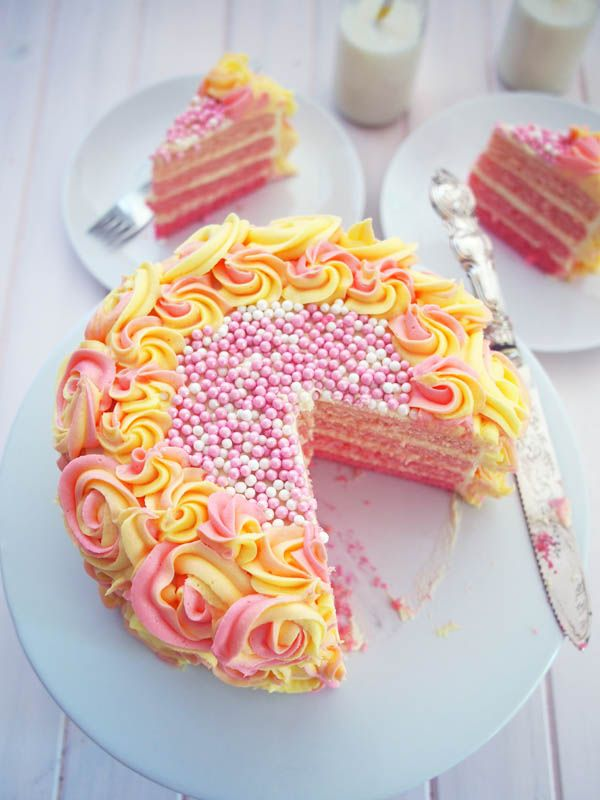 Pink lemonade ombre cake: Desserts, Pink Lemonade Cakes, Happy Birthday, Ice Recipes, Smash Cakes, Lemonade Ombre, Cute Ideas, Cakes Shadow, Cakes Ice