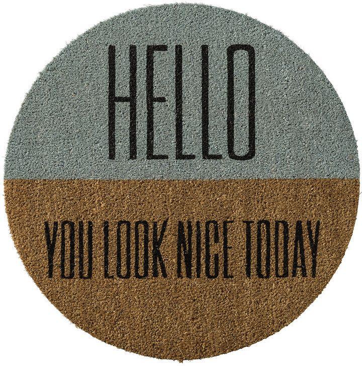 Amara Bloomingville - Door mat - 70cm - 'Hello you look..' on shopstyle.com.au