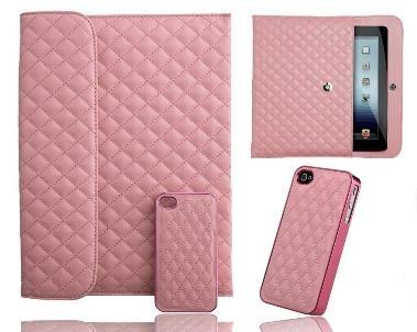 Un couple parfait - pochette pour iPad et étui pour iPhone - assortis!