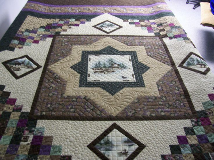 196 best Quilts con paneles images on Pinterest | Quilt patterns ... : northwoods quilt - Adamdwight.com