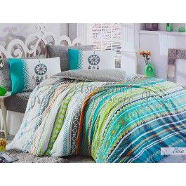 Hobby Home Eva verde - Lenjerie de pat din bumbac ranforce 2 persoane