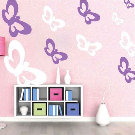 Baby Wall Designs best 25 nursery wall collage ideas on pinterest vintage nursery vintage nursery girl and neutral storage cabinets Butterfly Wall Decals Share Choose Options Sheet