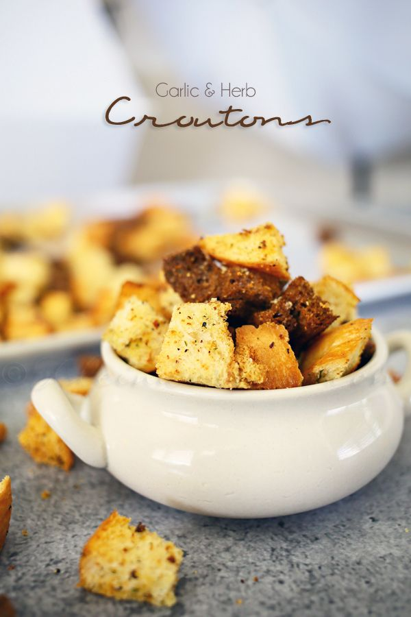 ... CROUTONS on Pinterest | Easy recipes, Homemade croutons and Friends
