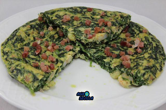 Tortilla de espinacas Ana Sevilla cocina tradicional