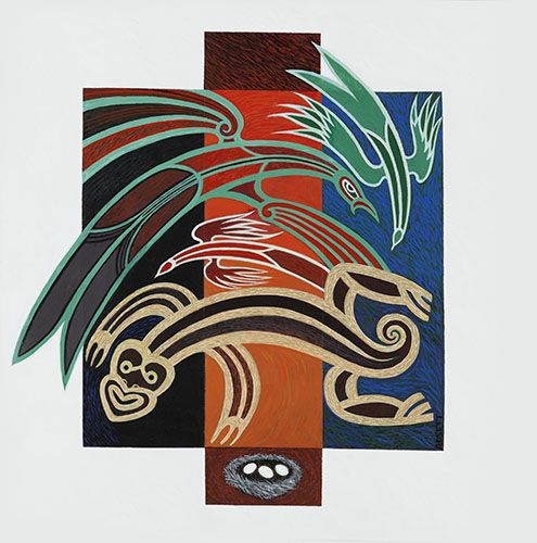 "Tiaki ""Protecting the Nest"" by Sandy Adsett, Māori artist (KX150601)"
