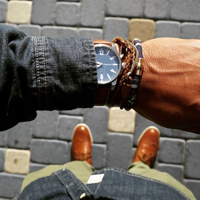 Regram of the stylish @steezygent rocking #TheAbraham and #TheWinston bracelets from @dappervigilante.  Get yours today at bit.ly/DapperVigilante.  #DapperVigilante