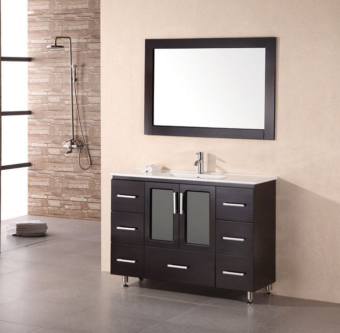 Buy Design Element Stanton 48x19 Modern Bathroom Vanity Set w/ Drop In