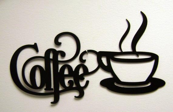 14 X 7 Bistro Coffee Sign With Mug Metal Wall Etsy Coffee Wall Decor Kitchen Wall Art Kitchen Metal Wall