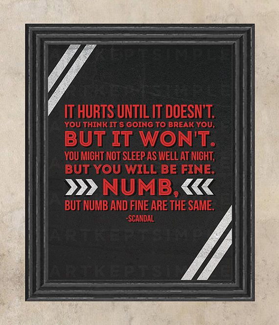 INSTANT DOWNLOAD Scandal Mellie Grant It Hurts Quote Poster
