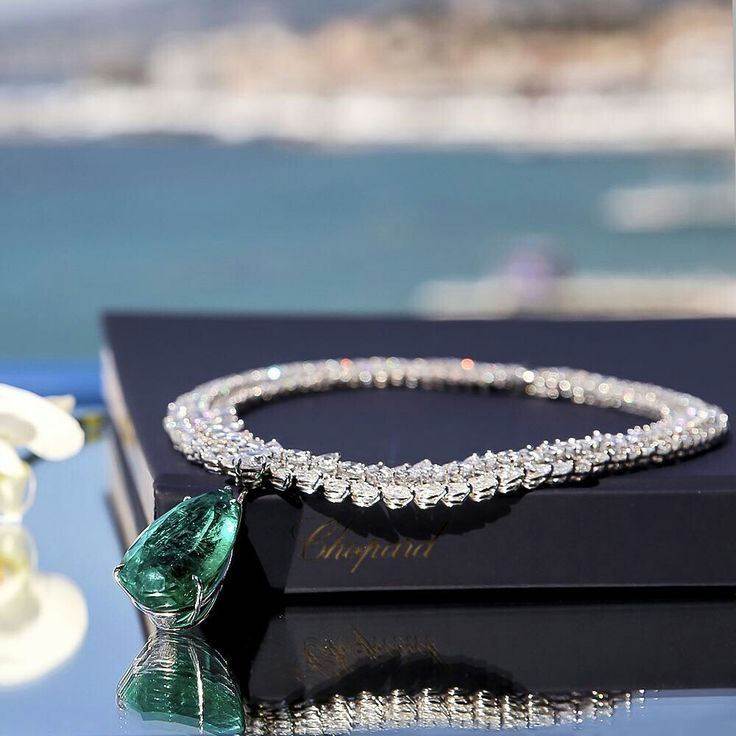 @chopard. At #Cannes2017, the most intimate experience is when you choose the jewels that will shine around you. #chopardlovescinema #HauteJoaillerie #Emerald